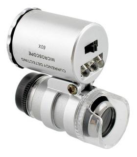 Mini Lupa Microscopio Joyería 60x Luz Led - Electroimporta