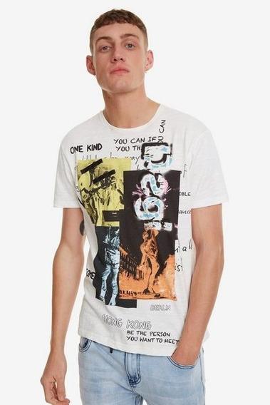 Camiseta Caballero Textil Blanco Desigual