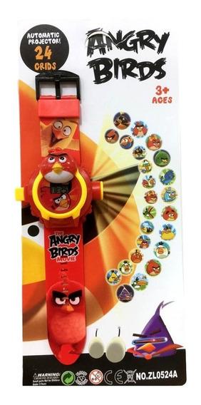 Relógio Angry Birds Brinquedo Projetor De Imagem