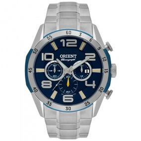 Relógio Orient Mbssc160 D2sx Prata Cromado Azul - Refiando