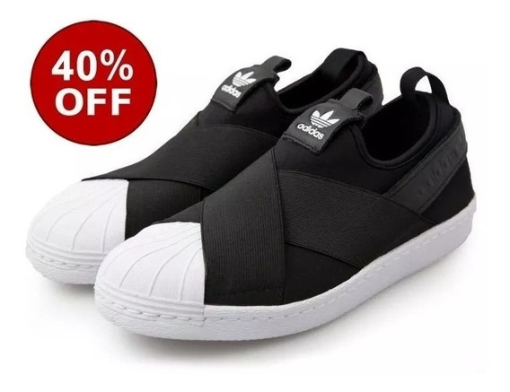 Tênis adidas Slip On Superstar Importado Unissex + Brinde