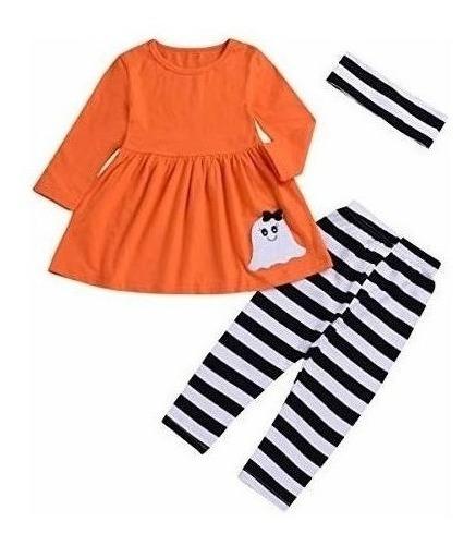 1-5 Años Niño Bebé Kids Ropa Para Niñas Vestidos Naranja Y P