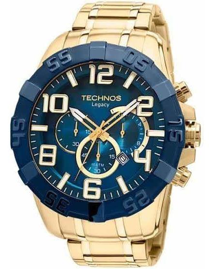 Promoção Relógio Technos Fundo Azul Crono Ref : Os20iq/4p