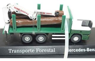 Camión Mercedes Benz Transporte Forestal Escala 1/72