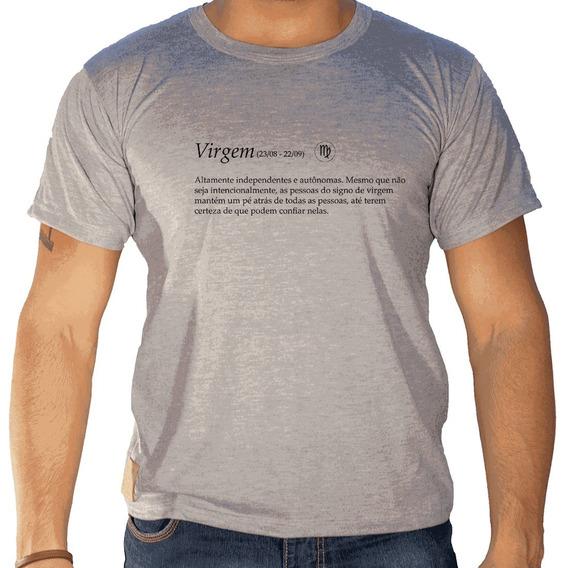 Camiseta Masculina Sandro Clothing Signo Virgem Cinza