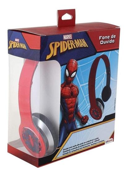 Fone De Ouvido Dobravel Homem Aranha Marvel Caixa Spider Man
