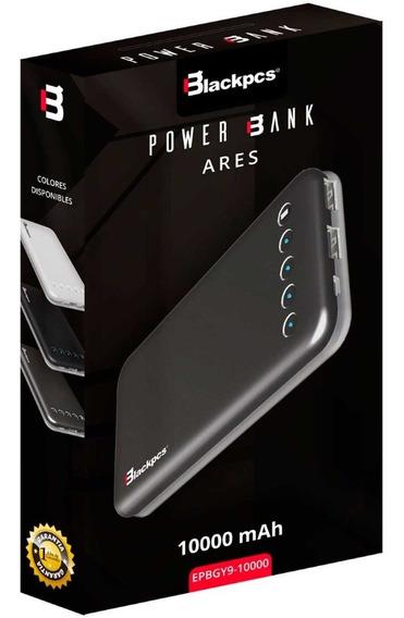 Power Bank 10000mah Ares 2 Puertos Usb Blackpcs Colores