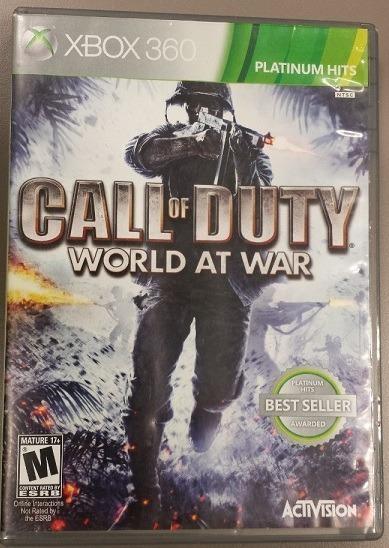 Jogo Call Of Duty Word At War Xbox360 Ntsc Em Dvd Original