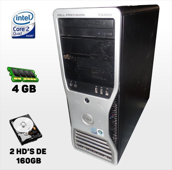 Workstation T3400 Intel Core2quad Q6600 2.40ghz, 4gb, 160gb