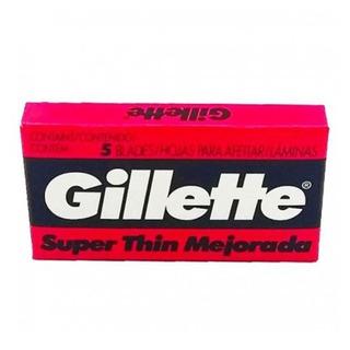 Gillette Roja Thin Hojas Afeitar 5 Unidades Kaosimport En 11