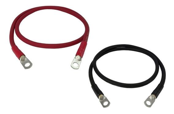 Kit Cabos Ligação De Bateria Controlador E Inversor (25/4mm)