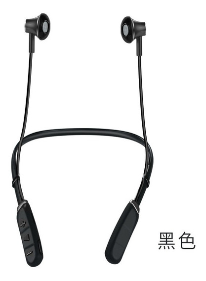 Preto M04 Neck-mounted Sports Bluetooth Headset Tf Cartão Ba