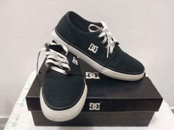 Tênis Skate Dc Shoes Studio Tx La - Preto E Branco