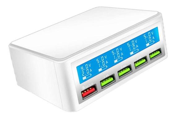 Inteligente 5 Portas Usb Telefone Carregamento Rápido Power