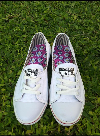 Zapatillas All-star De Lona Color Blanco Talle 37