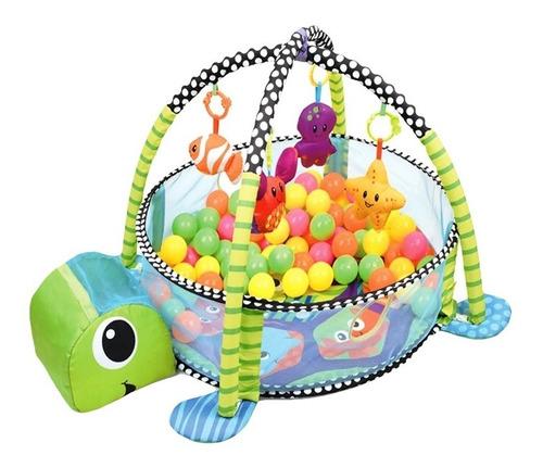 Imagen 1 de 4 de Gimnasio Lujo Para Bebe Piscina Interactiva Tortuga Pelotas