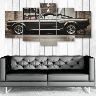 Quadro Decorativo Carro Ford Mustang Gt 500 Garage Hall Bar