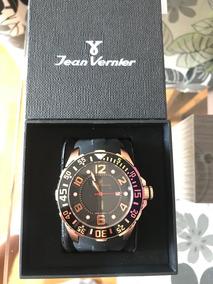 Relógio Jean Vernier Jv1082 Novo Preto Rose Com Garantia