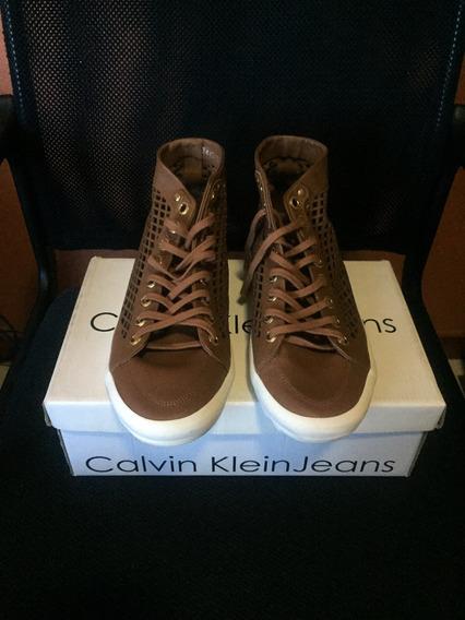 Tênis Couro Calvin Klein Original