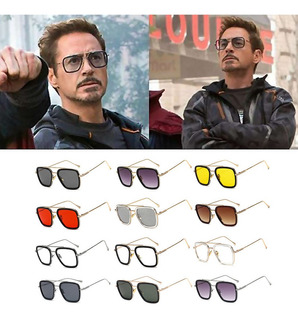 Hombre Tony Stark Gafas De Sol Iron Man Robert Downey Gafas