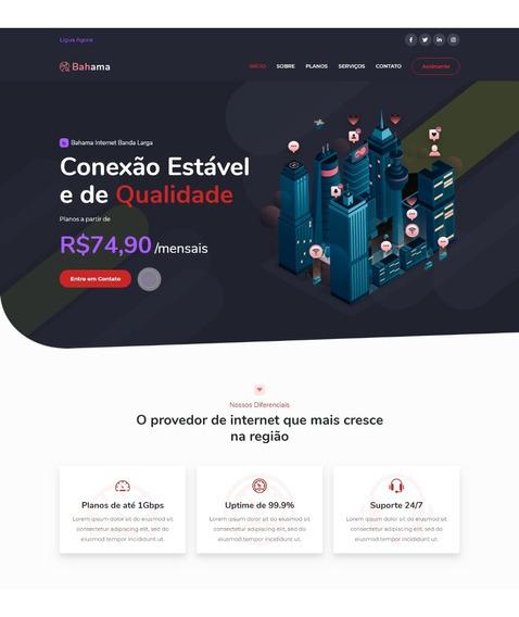 Template Website Provedor Internet Moderno Chamativo