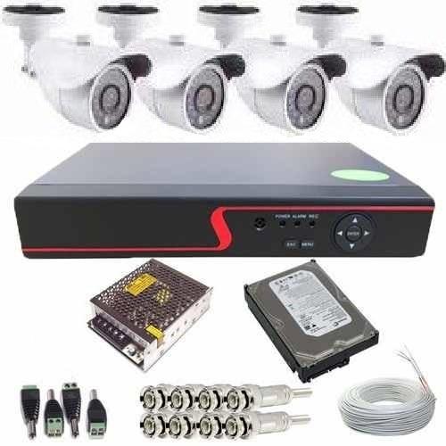 Câmeras De Segurança Residencial Externa Kit Dvr 4 Ch Hd 1t
