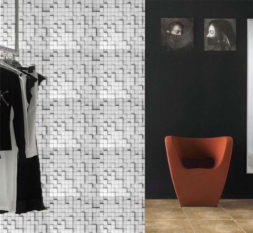 Imagen 1 de 3 de Azulejos Adhesivos Cocina Bañopared Mosaicos Gris Vinil 20pz
