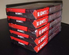 Lote Com 20 Fitas Cassete Emtec Fe I 60 Minutos Lacrada