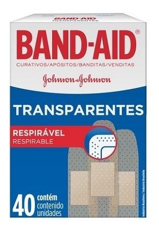 Curitas Band Aid Transparente 40x30 Unidades