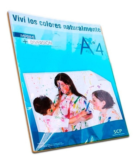 Papel Scp Foto A4 Simple Faz 140gr X 50 Hojas Glossy