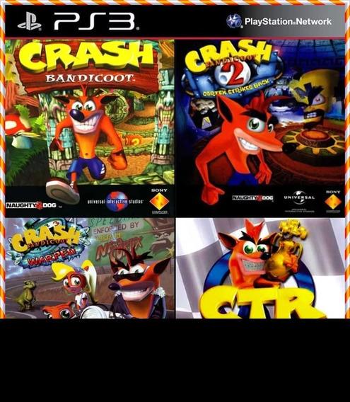 Crash 1 2 3 + Crash Team Racing 4 Em 1 Jogos Ps3 Coleção