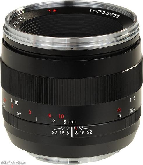 Lente Zeiss 50mm F/2.0 Makro-planar Ze Bocal Canon Ef