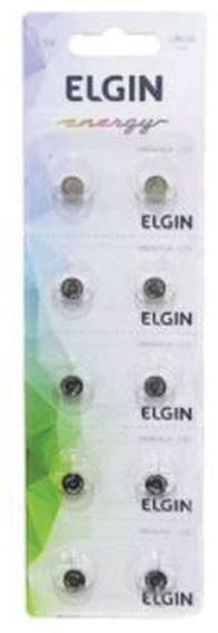 Pilha Bateria Botao Lr626 Ag4 1,5v Cart 10un Elgin