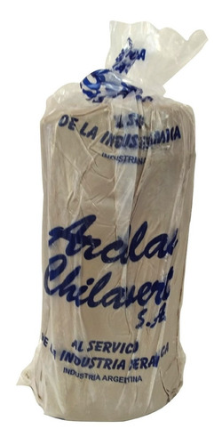 Imagen 1 de 1 de Arcilla Chilavert Blanca Lisa  5 Kg