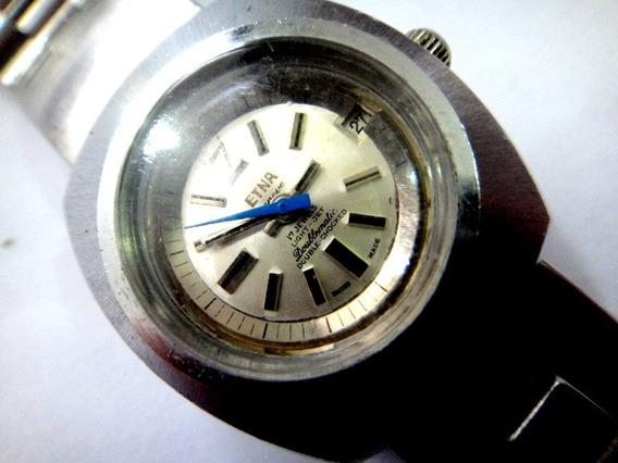 Relógio Etna Doublematicem Light-jet Em Aço