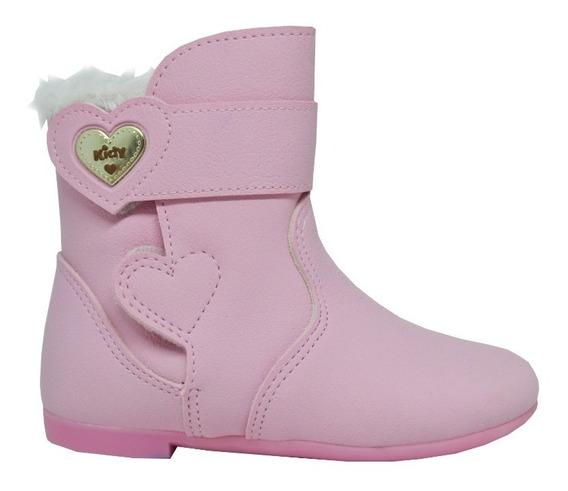 Bota Feminina Infantil Kidy Soft - Rosa Claro