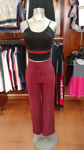 Pantalon Acanalado Talla Unica