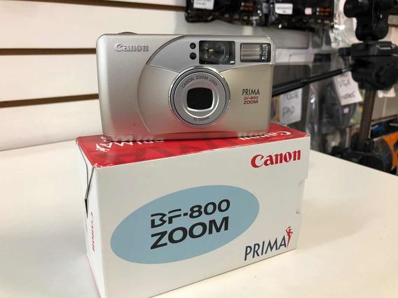 Câmera Compacta Canon Linha Prima Bf 800 Zoom - 35-56mm Nova