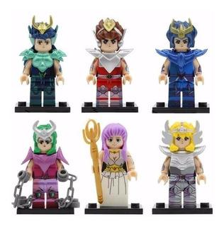 5 Caballeros Zodiaco Bronce Diferentes Compatible Lego