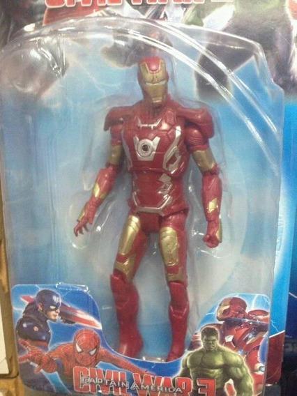 Muñeco Iron Man 15cm Con Luz, Juguetes Niño Oferta