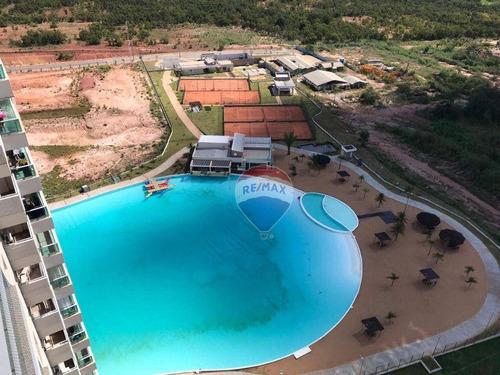 Imagem 1 de 22 de Apartamento 3 Suítes À Venda  Andar Alto No Brasil Beach Resort -cuiabá-mt - Ap1233