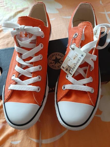 Zapatos Converse Talla 40 Color Naranja, Único Par Original