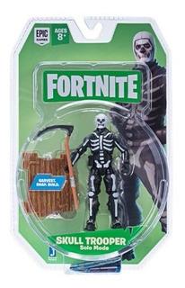 Figura Articulada 10 Cm. Skull Trooper Fortnite (fnt0073)