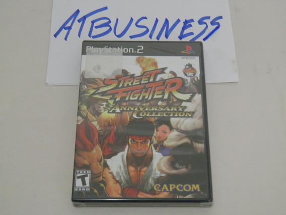 Ps2 Street Fighter Anniversary Collection Novo Envio Grátis