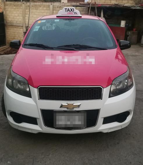 Taxi Aveo 2013 Blanco 4 Cilindros Motor 1.6