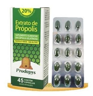 Própolis Verde Sem Álcool 45 Cápsulas Gelatinosas Prodapys