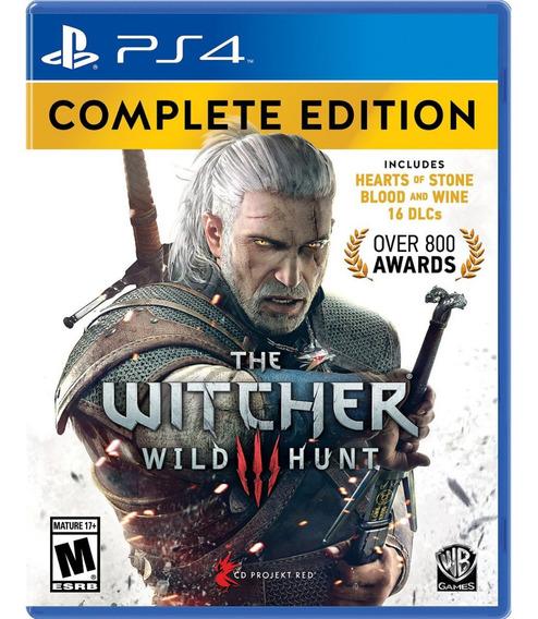 Jogo The Witcher 3 Wild Hunt Ps4 Disco Fisico Novo Original
