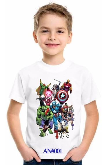 Franelas Avengers Endgame Niños Sublimadas
