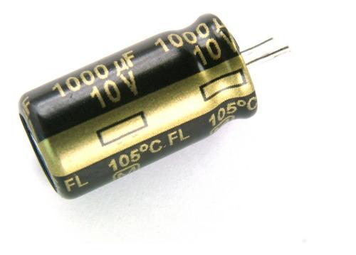 Imagen 1 de 2 de Capacitor Electrolitico Pc Monitor 1000uf X 10v X5 Unidades