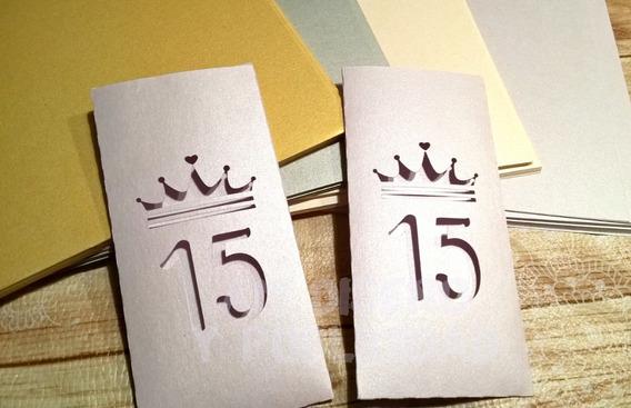 Sobre P/ Tarjeta Invitación 15 Años Cumple Calada!